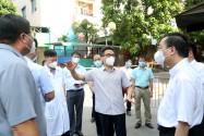 Chùm ảnh: Phó Thủ tướng Vũ Đức Đam kiểm tra công tác phòng, chống dịch COVID-19 tại Hà Nội